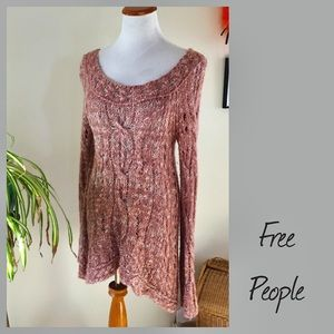 Free People Long Knit Sweater Cozy Small